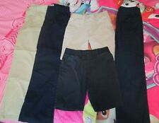 Lot of 5 Girls School Uniform Bottoms Size 7 New and Gently Used