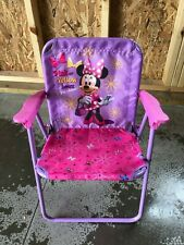 Child Size pink and purple with flowers Minnie Lawn Chair