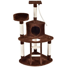 "48"" Cat Tree Kitten Activity Tower Furniture Condo Perches Scratching Posts Rope"