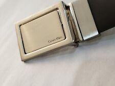 Calvin Klein Men's Accessories Reversible Logo Plaque Belt