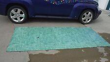"Vintage~ Linoleum Flooring~1950's 9x9 grid~Shades of Turquoise~Aqua~46"" x 108"""
