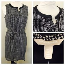 NWT Women's Banana Republic Houndstooth Sheer Lined Dress- Size 4P