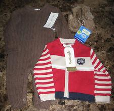 3 Items❤Berlingot Cardigan Sweater *Elegant Baby Onesie*i Play Slippers❤9-12 mos
