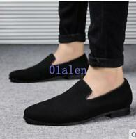 19 Men's Casual pointytoe suede leather casual or dress loafer shoes oxford Hot