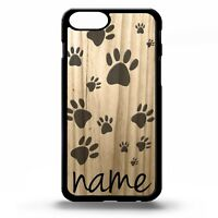 Paw print puppy dog paws pattern dogs pet personalised name phone case cover