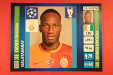 PANINI CHAMPIONS LEAGUE 2013/14 N. 127 DROGBA GALATASARAY BLACK BACK MINT!