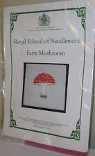 NIP ROYAL SCHOOL OF NEEDLEWORK FAIRY MUSHROOM EMBROIDERY KIT UK ENGLAND RED WHIT