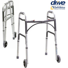 Mobility Walker Zimmer Frame. Aluminium Light Folding Walking aid with Wheels.