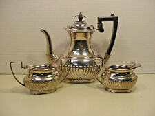 Israel Freeman & Sons Silver Plate Coffee Teapot Set Sugar Creamer Art Deco