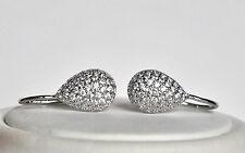 Echt 925 Sterling Silber Ohrringe Ohrhänger mit Zirkonia crystal Hochzeit Nr 317