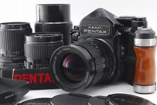 【MINT 4Lens】 Pentax 6x7 TTL 67 Mup + SMC 55mm 75mm 135mm 200mm + Grip Set 924