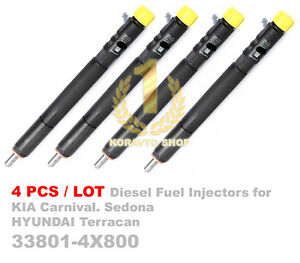 4PCS Delph CRDI Diesel Fuel Injector 33801-4X800 for Carnival, Sedona, Terracan
