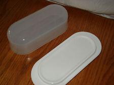TUPPERWARE Impressions Butter Dish w/ Cover ~White