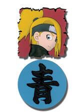 **License** Naruto Shippuden SD Deidara & Kanji Logo Pin Set #6660