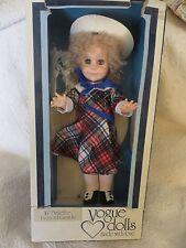"VOGUE DOLL 16"" Brikette Pretty & Poseable #306677 Plaid Dress Hat 1977 LESNEY"