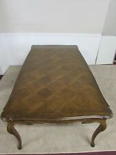 VINTAGE AUFFRAY & CO FRENCH WALNUT DINING TABLE, CUSTOM PADS, HIGH QUALITY