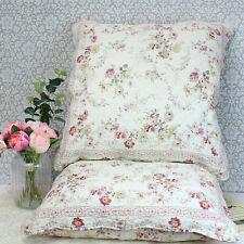 More details for pair of large vintage quilted, scalloped edge euro shams with pillows. 65 x 65cm