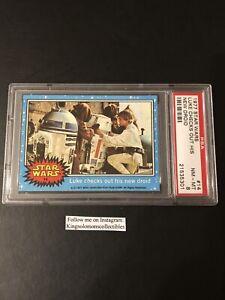 1977 Topps Star Wars 1st Series  #14 Luke Checks Out His Droid Card PSA 8 NM-MT!