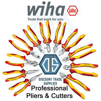 Wiha VDE Professional Electric Cable Cutters Pliers 1000v Needle Nose Dynamic