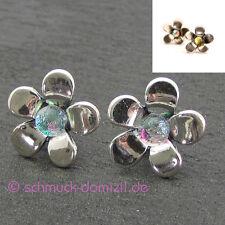 TROLLBEADS Ohrringe Silberne Blume - Silber mit Glas - Silver Flower 56106 - 10