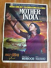 MOTHER INDIA 1957 orig VINTAGE rare BOLLYWOOD FILM POSTER ART INDIA NARGIS