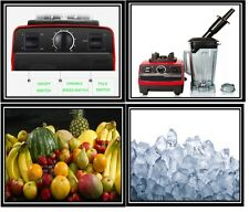 NUOVO Heavy Duty Germen Commercial 3hp FRULLATORE MIXER 2l-ice Crusher 2200w-g5200