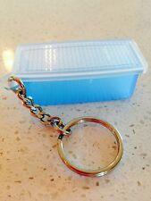 Tupperware Key Ring Aqua Blue Fridge Smart Keychain Rare New White Lid