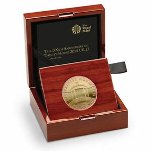 2014 500th ANNIVERSARY TRINITY HOUSE £2 TWO POUND GOLD PROOF COIN - complete