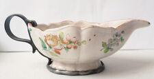 saucière en faïence 19e siècle Fleur de Lys peut-être Sceaux