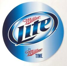 "Miller Lite Beer 7"" Round Metal Sign - New -"