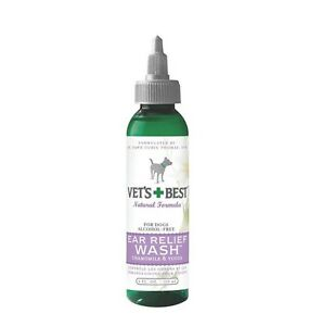 Vets Best Ear Relief Wash for Dogs - 4 oz Controls Odor & itching