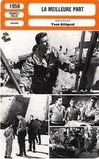 FICHE CINEMA : LA MEILLEURE PART - Philipe,Cordoue,Allégret 1956 The Best Part