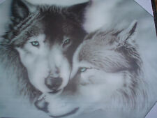 WOLF 3D WALL ART PICTURE, BLACK@WHITE.