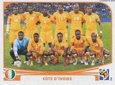N°524 TEAM SQUADRA # IVORY COAST STICKER PANINI WORLD CUP SOUTH AFRICA 2010