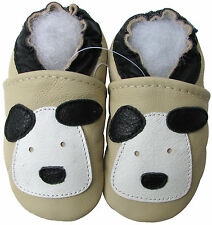 carozoo little puppy cream 12-18m new soft sole leather baby shoes