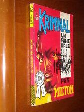 KRIMINAL n. 109 - UN FUNERALE PER MILTON di BUSTA - QS/EDICOLA - lug. 1967