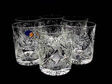 Set of 6 Russian Cut Crystal Rocks Glass 11 oz. for Scotch Whiskey Handmade DOF