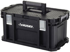 Husky Tool Box Storage Organizer Tray Latch Jobsite 22 Inch Mobile Connect Black
