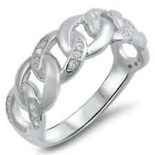 Cubic Zirconia Cocktail Simulated Sterling Silver Fashion Rings