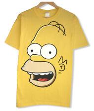 Vtg Universal Studios Homer Simpson Men's Sz Large All Over Print Yellow T-Shirt