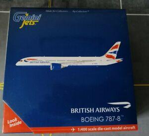 British Airways B787-8 G-ZBJC 1/400 by Gemini Jets. BRAND NEW, MINT CONDITION