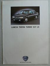 Prospekt Lancia Thema turbo 16V LX, 9.1991, 6 Seiten, folder