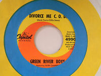 Green River Boys 45 DIVORCE ME C O D bw DARK AS A DUNGEON Capitol VG+ TO VG++
