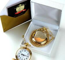 PERSONALISED 24k Gold Clad Pocket Watch Engraved Wedding Usher Best Man Groom