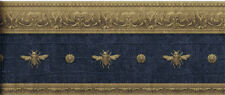 Architectural Napolonic Bee Wallpaper Border in Marine Blue (Dark) LL081115B