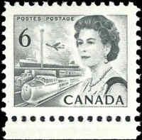 Mint NH Canada 1972 VF PRINTD ON GUM SIDE Scott #460fi 6c Centennial Def. Stamp
