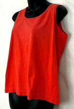 Vtg Chaus Sport Womens Tank Top Coral Orange Cotton Sleeveless Shirt Basic L
