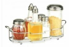 7 Piece Glass Condiment Dispenser Set in Decorative Tray ~ Free Shipping