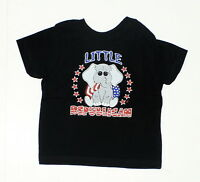 NEW Rabbit Skins Toddler Political Graphic T-Shirt Tee Black 2T 02413