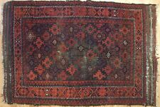 Beautiful Baluch - 1910s Antique Persian Rug - Tribal Oriental Carpet 3.8 x 5.8